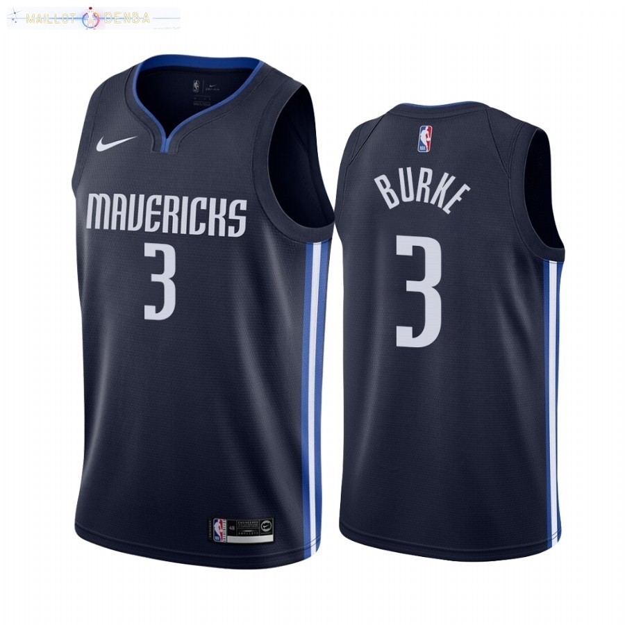Maillot Dallas Mavericks Nike NO.3 Trey Burke Marine Statement 2020