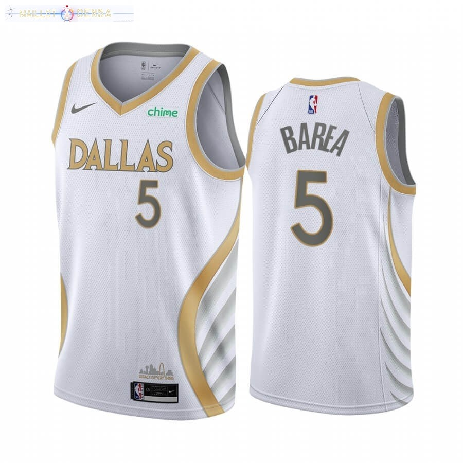 Maillot Dallas Mavericks Nike NO.5 J.J. Barea Blanc Ville 2020-21