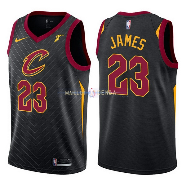 cb1b52a906eed Maillot Cleveland Cavaliers Nike NO.23 LeBron James Noir Maillot pas ...