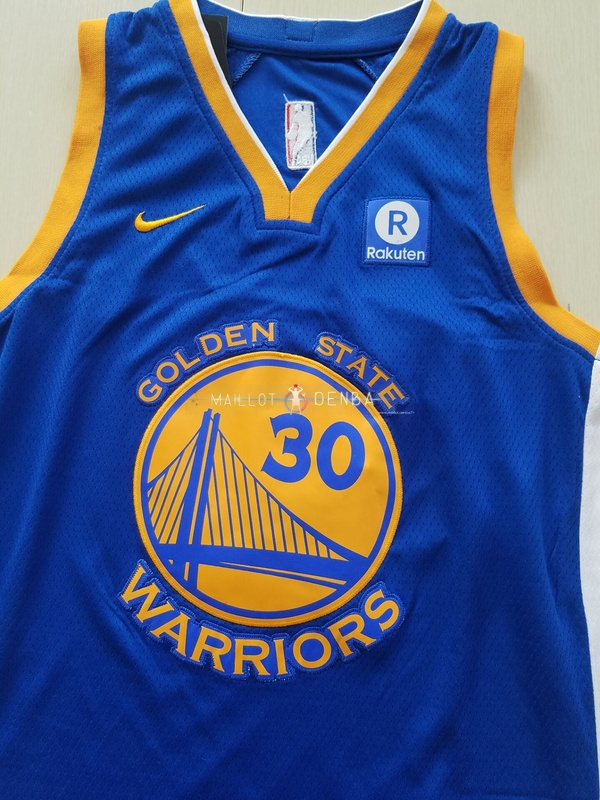 84478bfe469b1 ... Maillot Ensemble Complet Enfants Golden State Warriors No.30 Stephen  Curry Bleu 2017/2018 ...