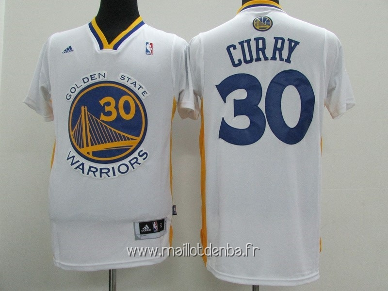 7b40e2c932ee2 ... Maillot Golden State Warriors Manche Courte No.30 Stephen Curry Blanc